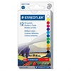 "Staedtler Oil Pastels - 2.8"" Length - 0.4"" Diameter - Assorted - 12 / Pack"