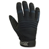 Thermal Waterproof Utility Gloves - 10 Size Number - X-Large Size - MicroFiber, Synthetic Leather Palm, Woven Cuff, Spandex Back, Neoprene Knuckle, Terrycloth Thumb - Black - Water Proof, Thin