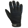 Thermal Utility Gloves - 11 Size Number - XXL Size - Synthetic Leather Palm, Woven Cuff, Terrycloth Thumb, Spandex Back, Neoprene Knuckle - Black - Thinsulate Lining, Reinforced Palm Pad, Elas