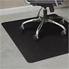 "ES Robbins TrendSetter Hard Floor Chair Mat - Floor, Office, Home - 48"" Length x 36"" Width - Rectangle - Black"