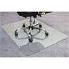 "Cleartex Glaciermat Glass Chair Mat - Hard Floor, Home, Office, Carpet - 48"" Length x 36"" Width - Rectangle - Glass - Clear"