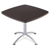 "Iceberg iLand 29""H Square Hospitality Table - Square Top - 36"" Table Top Length x 36"" Table Top Width x 1.13"" Table Top Thickness - 29"" Height - Assembly Required - Gray, Laminated, Silver - Particleb"