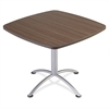 "iLand 29""H Square Hospitality Table - Square Top - 36"" Table Top Length x 36"" Table Top Width x 1.13"" Table Top Thickness - 29"" Height - Assembly Required - Laminated, Teak - Particleboard"