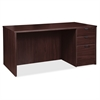 "Prominence 79000 Espresso Right Desk Pedestal - 71"" x 36"" x 29"" - 3 x File Drawer(s), Box Drawer(s) - Single Pedestal on Right Side - Material: Particleboard - Finish: Espresso, Thermofused Mel"