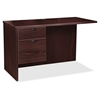 "Lorell Prominence 79000 Espresso Left Pedestal Return - 42"" x 24"" x 29"" - 2 x Box Drawer(s), File Drawer(s) - Single Pedestal - Material: Particleboard - Finish: Espresso, High Pressure Laminate (HPL)"