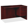 "Prominence Series Mahogany Right Pedestal Return - 42"" x 24"" x 29"" - 2 x File Drawer(s), Box Drawer(s) - Single Pedestal on Right Side - Material: Particleboard - Finish: Mahogany, Thermofused"