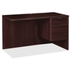 "Prominence 79000 Espresso Right Pedestal Return - 42"" x 24"" x 29"" - 2 x File Drawer(s), Box Drawer(s) - Single Pedestal on Right Side - Material: Particleboard - Finish: Espresso, Thermofused M"