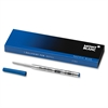 Montblanc Ballpoint Pens Refill - Fine Point - Pacific Blue Ink - Smooth Writing - 1 Each