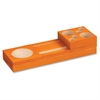"Safco Orange Splash Wood Desk Set - 2.3"" Height x 10.6"" Width x 3.5"" Depth - Desktop - Orange - Pine Wood - 1 / Set"