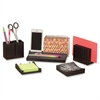 "Safco Wood Desk Organizer Set - 2.1"" Height x 15.3"" Width x 5.5"" Depth - Desktop - Black - Pine Wood - 1 / Set"