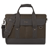 "Executive Carrying Case (Briefcase) for 15.6"" Notebook - Black, Gray - Damage Resistant - Cotton, Vinyl - Shoulder Strap, Handle - 12"" Height x 16"" Width x 3"" Depth"