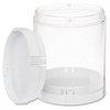 Deflect-o Interlocking Storage Canister - Clear - 1Each