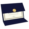 Geographics Double-fold Certificate Holder - Navy - Recycled - 5 / Pack
