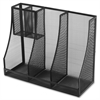 "Genuine Joe Cup Holder - 4 Compartment(s) - 10"" Height x 5.4"" Width x 10"" Depth - Black - Steel, Mesh - 1Each"