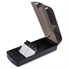 Lorell Desktop Business Card File - 650 Card - Black, Clear