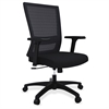 "Mesh Mid-back Swivel Chair - Fabric Seat - 5-star Base - Black - 28"" Width x 26.1"" Depth x 40.6"" Height"
