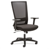 "Mesh High-back Swivel Chair - Fabric Seat - 5-star Base - Black - 46"" Width x 25.9"" Depth x 25.1"" Height"