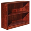 "Essentials Series Cherry Laminate Bookcase - 36"" x 12"" x 30"" Bookshelf, Shelf - 2 Shelve(s) - Square Edge - Material: Medium Density Fiberboard (MDF) - Finish: Cherry, Thermofused Laminate (TFL"