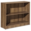 "Lorell Essentials Series Walnut Laminate Bookcase - 36"" x 12"" x 30"" Shelf, Top - 2 Shelve(s) - Square Edge - Material: Medium Density Fiberboard (MDF) - Finish: Walnut, Thermofused Laminate (TFL)"