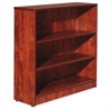 "Essentials Series Cherry Laminate Bookcase - 36"" x 12"" x 36"" Bookshelf, Shelf - 3 Shelve(s) - Square Edge - Material: Medium Density Fiberboard (MDF) - Finish: Thermofused Laminate (TFL), Cherr"