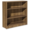 "Lorell Essentials Series Walnut Laminate Bookcase - 36"" x 12"" x 36"" Bookshelf, Top, Shelf - 3 Shelve(s) - Square Edge - Material: Medium Density Fiberboard (MDF) - Finish: Thermofused Laminate (TFL),"