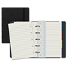 Rediform Filofax Notebook - 112 Pages - Twin Wirebound - Ruled - Cream Paper - Black Cover - Recycled - 1Each