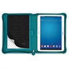 "Saffiano Carrying Case for 10.1"" Tablet - Aqua - Polyurethane"