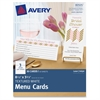 """Avery Note Card - 8.50"""" x 3.66"""" - Textured - 30 / Pack - White"""