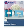 "Pearlized Address Labels 80509, 1"" x 2-5/8"", Pack of 90 Labels - Permanent Adhesive - 90 Label(s)"" - 2.63"" Width x 1"" Length - 30 / Sheet - Rectangle - Inkjet, Laser - Ivory - 90 / Pack"