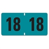 "ETYJ Color-Coded Year Labels - ""Year"" - 1.50"" Width x 0.75"" Length - 500 / Roll - Rectangle - Turquoise - 500 / Roll"