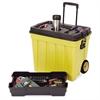 "Tuff Box Portable Tool Organizer - 20.3"" Height x 23.5"" Width x 15.5"" Depth - Yellow - 1Each"
