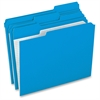 "Pendaflex Grid Pattern Color Legal File Folders - Legal - 8 1/2"" x 14"" Sheet Size - 1/3 Tab Cut - Top Tab Location - 11 pt. Folder Thickness - Stock - Blue - 100 / Box"