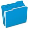 "Pendaflex Grid Pattern Color Legal File Folders - Legal - 8 1/2"" x 14"" Sheet Size - 1/3 Tab Cut - Top Tab Location - 11 pt. Folder Thickness - Stock - Blue - 100 / Box"