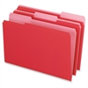 "Pendaflex Grid Pattern Color Legal File Folders - Legal - 8 1/2"" x 14"" Sheet Size - 1/3 Tab Cut - Top Tab Location - 11 pt. Folder Thickness - Stock - Red - 100 / Box"