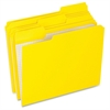 "Pendaflex Grid Pattern Color Legal File Folders - Legal - 8 1/2"" x 14"" Sheet Size - 1/3 Tab Cut - Top Tab Location - 11 pt. Folder Thickness - Stock - Yellow - 100 / Box"