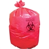 "Red Biohazard Can Liners - 23"" Width x 24"" Length x 0.60 mil (15 Micron) Thickness - Low Density - Red - Linear Low-Density Polyethylene (LLDPE) - 1000/Carton - Can"