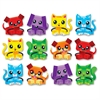 "Trend Blockstar Dogs & Cats Classic Accent Set - (Dog, Cat) Shape - Precut, Durable, Reusable - 5.50"" Height - Multicolor - 36 / Pack"