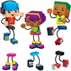 "Trend Blockstar Classic Accent Set - Fun Theme/Subject - 18 (Children) Shape - Precut, Durable, Reusable - 5.50"" Height - Multicolor - 48 / Pack"