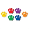 "Teacher Created Resources Paw Prints Magnetic Accents - Learning Theme/Subject - 18 Paw - Magnetic - Durable, Damage Resistant - 0.10"" Height x 3"" Width x 3"" Depth - Multicolor - 18 / Pack"