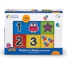 "Learning Resources Numbers Puzzle Blocks - Learning Theme/Subject - 14 (Numbers) Shape - Magnetic - Durable, Damage Resistant - 0.10"" Height x 2.50"" Width x 2.50"" Depth - Black - 6 / Set"