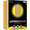 "Astrobrights Inkjet, Laser Print Colored Paper - Letter - 8.50"" x 11"" - 24 lb Basis Weight - 89 g/m² Grammage - Smooth - 1000 / Pack - Vulcan Green, Cosmic Orange, Martian Green, Pulsar Pink, Lif"