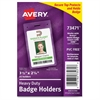 Secure Top ID Badge Holder - Portrait - 25 / Pack - Clear