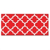 "Moroccan Bolder Borders - Precut, Durable, Reusable - 2.75"" Height x 429"" Width - Red, White - 1 Pack"
