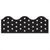 "Polka Dots Board Trimmers - Polka Dot - Durable, Reusable - 2.25"" Height x 468"" Width - Black - 1 Pack"