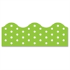 """Polka Dots Board Trimmers - Polka Dot - Durable, Reusable - 2.25"""" Height x 468"""" Width - Lime - 1 Pack"""