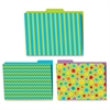 Fresh Sorbet Design File Folders Set - Multi-colored - 6 / Pack