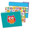 Colorful Owls File Folders Set - Multi-colored - 6 / Pack
