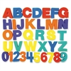 "Letters/Numbers Paint Sponges Set - 26 Uppercase Letters, 10 Numbers - Durable - 3"" Height - Assorted - Foam - 36 / Set"