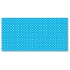 "Classic Dots Design Bulletin Board Papers - 48"" x 12 ft - 1 Roll - Aqua"