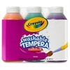 Crayola Artista II Washable Tempera Paint - 8 fl oz - 3 / Pack - Orange, Green, Purple